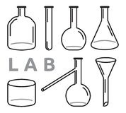 Set of laboratory equipment Stock Photos