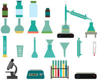 Set of laboratory equipment Royalty Free Stock Image