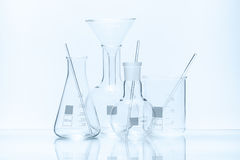 Set of laboratory glassware Stock Photos