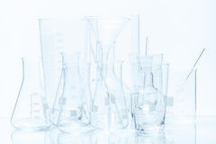 Set of laboratory glassware of different capacity and shapes Stock Photography