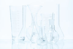 Set of laboratory glassware of different capacity and shapes Royalty Free Stock Image