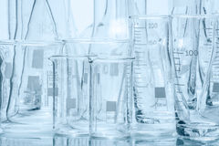 Set of laboratory glassware of different capacity and shapes Royalty Free Stock Photo
