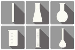Set of laboratory glassware Royalty Free Stock Photo