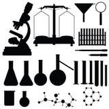 Set of laboratory silhouettes,  Royalty Free Stock Photo