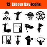 Set of Labour Day icons Royalty Free Stock Photos