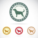 Set of  labrador label Royalty Free Stock Image