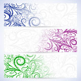 Set of lace banners Stock Images