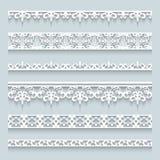 Set of lace border Royalty Free Stock Photo
