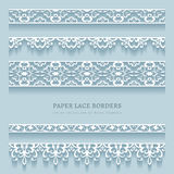 Set of lace border ornaments Stock Image