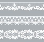 Set lace borders Stock Photography