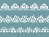 Set of lace borders Stock Image
