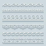 Set of lace borders Royalty Free Stock Photos