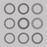 Set of lace frames. vintage, geometric, different shapes. Set of lace frames. vintage, geometric, different shapes vector royalty free illustration