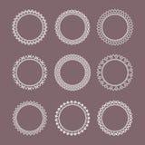 Set of lace frames. vintage, geometric, different shapes. Set of lace frames. vintage, geometric, different shapes vector vector illustration