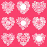 Set of Lace Hearts Royalty Free Stock Image