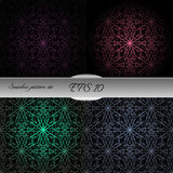 Set of lace-like seamless patterns. Nice hand-drawn illustration Stock Photos