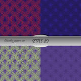 Set of lace-like seamless patterns. Nice hand-drawn illustration Royalty Free Stock Images