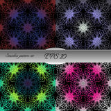 Set of lace-like seamless patterns. Nice hand-drawn illustration Royalty Free Stock Photos
