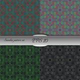 Set of lace-like seamless patterns. Nice hand-drawn illustration Royalty Free Stock Photography