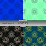 Set of lace-like seamless patterns. Nice hand-drawn illustration Royalty Free Stock Image