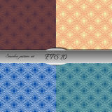 Set of lace-like seamless patterns. Nice hand-drawn illustration Stock Images