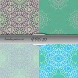 Set of lace-like seamless patterns. Nice hand-drawn illustration Stock Photography