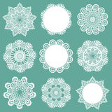 Set of Lace Napkins. For design and scrapbook - in Royalty Free Stock Image