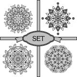 Set with lace ornaments Royalty Free Stock Image