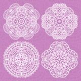Set of lace ornaments Royalty Free Stock Photo
