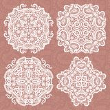 Set of lace ornaments Stock Images
