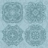 Set of lace ornaments Royalty Free Stock Photos