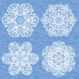 Set of lace ornaments Royalty Free Stock Image