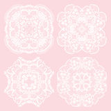 Set of lace ornaments Stock Image