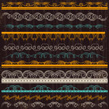 Set of Lace Paper, border, frame Royalty Free Stock Image