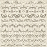 Set of Lace Paper, border, frame Stock Image
