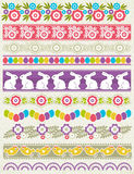Set of Lace Paper with flower an easter eggs Stock Photos