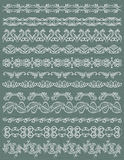 Set of Lace Paper with flower Stock Photography