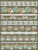 Set of Lace Paper with flower, vector Royalty Free Stock Photos