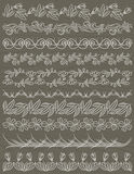 Set of Lace Paper with flower, vector Stock Images