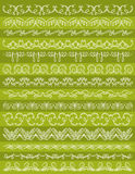 Set of Lace Paper with flower, vector Royalty Free Stock Images