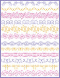 Set of Lace Paper with flower, vector Stock Photos