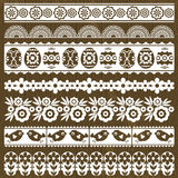 Set of Lace Paper with flowers and easter eggs Stock Images