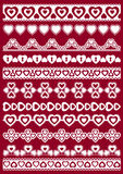 Set of Lace Paper with heart Stock Photos