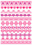 Set of Lace Paper with heart, vector Stock Photography