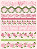 Set of Lace Paper with roses, vector royalty free stock images