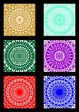 A set of lace patterned background tiles Royalty Free Stock Photography