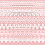 Set Lace Patterned Ribbons. Seamless Pattern For Design Of Invitations, Cards, Etc. Royalty Free Stock Image