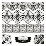 Set of lace patterns Stock Images