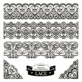 Set of lace patterns Royalty Free Stock Photography