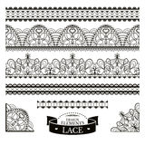 Set of lace patterns Royalty Free Stock Image